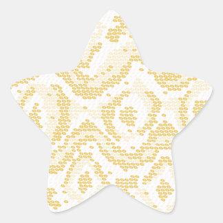 piel de serpiente del albino calcomanías forma de estrellas