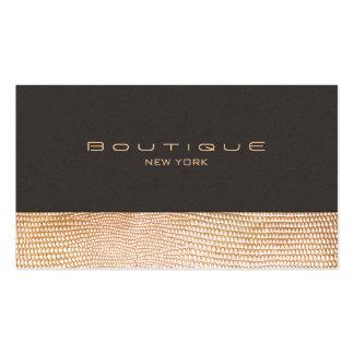 Piel de serpiente del oro y boutique de la moda tarjetas de visita