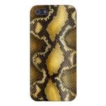Piel de serpiente del pitón iPhone 5 carcasa