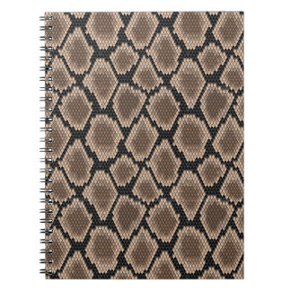 Piel de serpiente libros de apuntes con espiral
