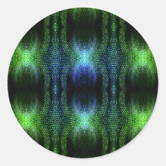 Piel de serpiente verde del resplandor pegatinas