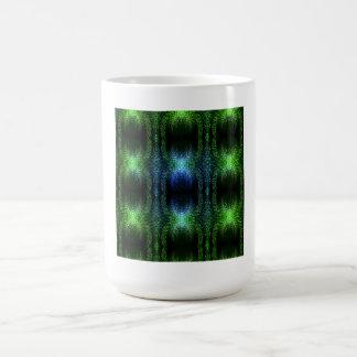 Piel de serpiente verde del resplandor taza