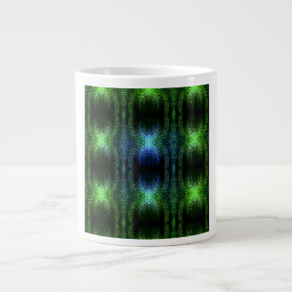 Piel de serpiente verde del resplandor taza extra grande