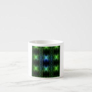Piel de serpiente verde del resplandor tazas espresso