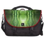 Piel de serpiente verde oscuro bolsas para portatil