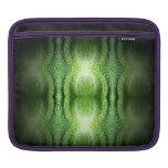 Piel de serpiente verde oscuro funda para iPads
