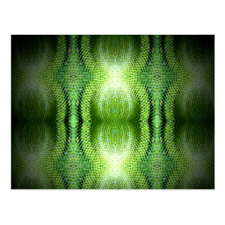 Piel de serpiente verde oscuro tarjeta postal