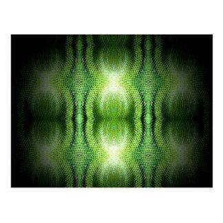 Piel de serpiente verde oscuro postal