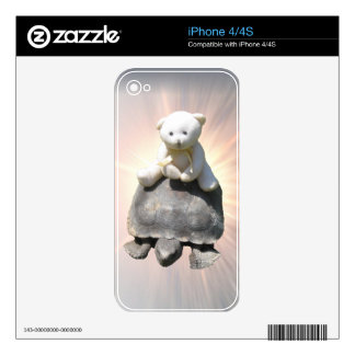 Piel de Zazzle de la tortuga del montar a caballo  Calcomanías Para iPhone 4S