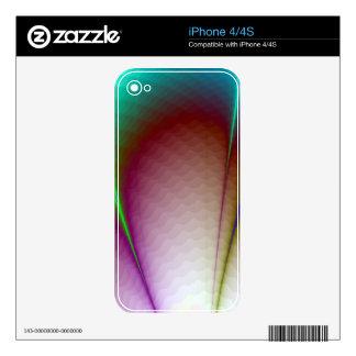 Piel de Zazzle de los pétalos del arco iris Skins Para eliPhone 4