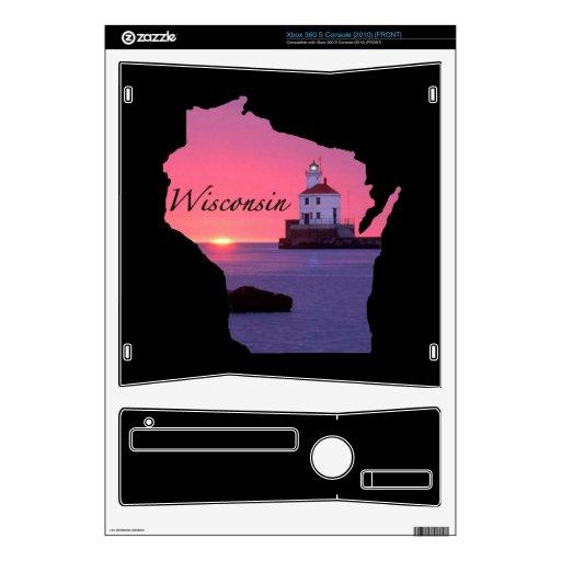 Piel de Zazzle del faro de Wisconsin Skins Para Xbox 360 S