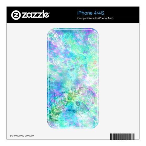Piel de Zazzle del iPhone 4 de la primavera de la  Calcomanía Para El iPhone 4