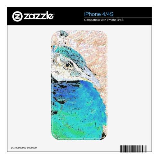 Piel de Zazzle del pavo real Skin Para El iPhone 4S