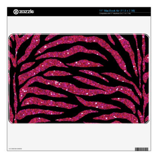 Piel del aire del mac del estampado de zebra del b calcomanía para el MacBook air