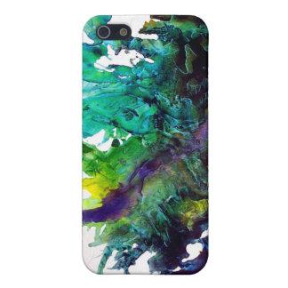 Piel del arte abstracto/caso del extracto - acebo  iPhone 5 fundas