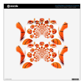 Piel del baloncesto de Playstation 3Dualshock Calcomanía Para Mando PS3