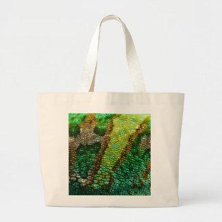 Piel del camaleón bolsas lienzo