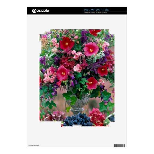 Piel del centro de flores calcomanías para el iPad 2