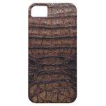 Piel del cocodrilo de Brown iPhone 5 Fundas