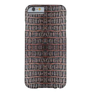 Piel del cocodrilo del vintage funda para iPhone 6 barely there