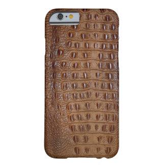 Piel del cocodrilo funda de iPhone 6 barely there