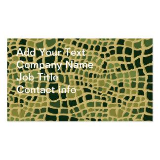 Piel del cocodrilo tarjetas de visita