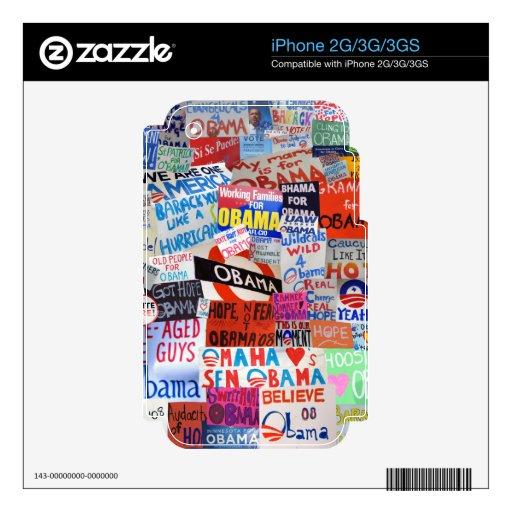 Piel del collage de la muestra de Obama iPhone 3G Calcomanías