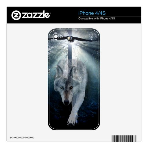 Piel del dispositivo de la electrónica del Fauna-a iPhone 4 Skins
