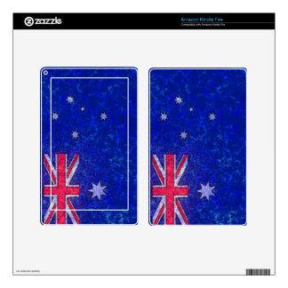 Piel del eReader de la BANDERA de AUSTRALIA Kindle Fire Skins