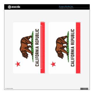Piel del eReader de la BANDERA de CALIFORNIA Skins Para Kindle Fire