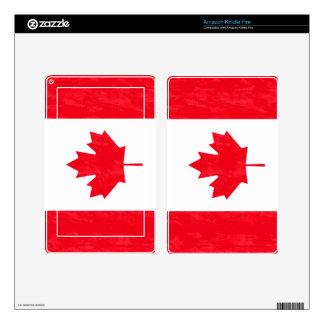 Piel del eReader de la BANDERA de CANADÁ Pegatina Skin Para Kindle Fire