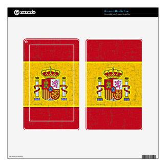Piel del eReader de la BANDERA de ESPAÑA Kindle Fire Skins