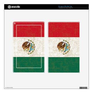 Piel del eReader de la BANDERA de MÉXICO Kindle Fire Pegatinas Skins