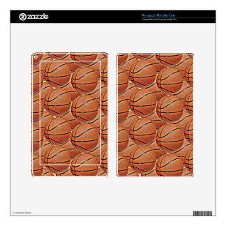 Piel del eReader de los BALONCESTOS Skin Para Kindle Fire