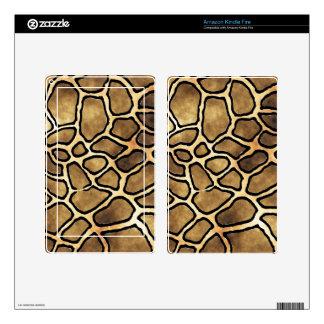 Piel del eReader del MODELO de la JIRAFA Skins Para Kindle Fire
