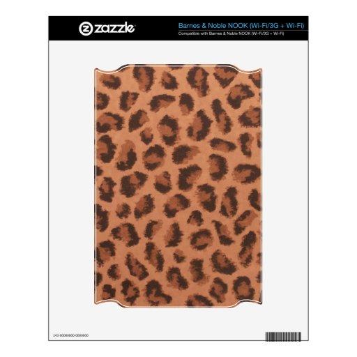 Piel del escondrijo del estampado leopardo calcomanía para NOOK