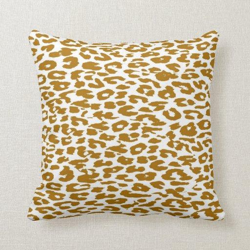Piel del estampado leopardo cojin
