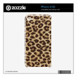 Piel del estampado leopardo iPhone 4 calcomanías