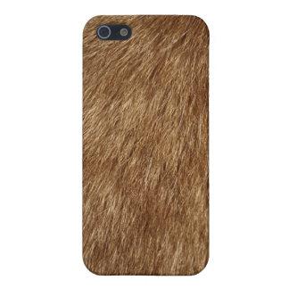 Piel del gato de Brown iPhone 5 Carcasa