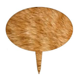 Piel del gato del jengibre decoración para tarta