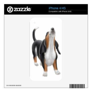 Piel del grito Basset Hound Zazzle Calcomanías Para El iPhone 4S