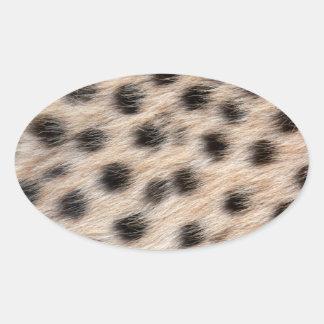piel del guepardo o plantilla manchada negro de la calcomanía ovaladas personalizadas