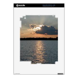 piel del iPad 2 con la foto de la puesta del sol Calcomanía Para iPad 2