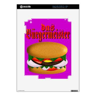 piel del iPad 2 del das Burgermeister Calcomanía Para El iPad 2