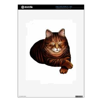 Piel del iPad 2 del gato de Tabby el dormir Brown iPad 2 Skins