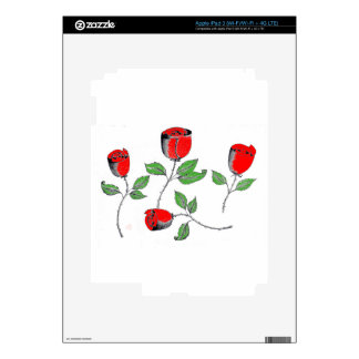 piel del iPad 3 con los rosas Pegatinas Skins Para iPad 3
