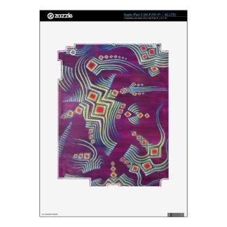 Piel del iPad 3 de los petroglifos iPad 3 Pegatinas Skins