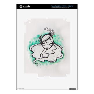 Piel del iPad 3 del jade Pegatina Skin Para iPad 3