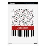 Piel del iPad 3 del piano de la nota de la música iPad 3 Pegatinas Skins