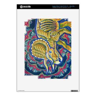 Piel del iPad 3 del Triceratops del fractal Pegatina Skin Para iPad 3